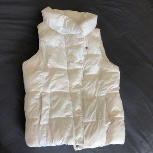 White GAP Puffy Vest
